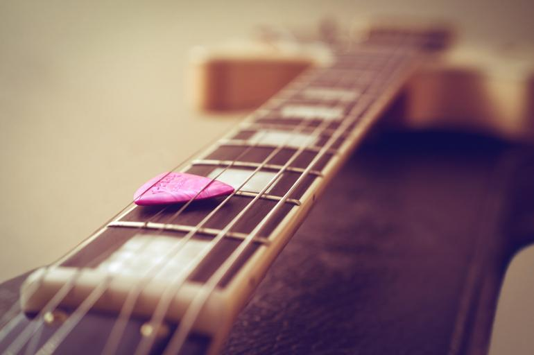Picture of Guitar and Pick